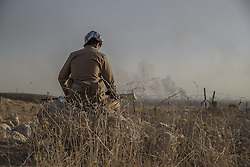 October 20, 2016 - Dohuk, Iraq - The battle of Mosul, day 4. Peshmerga soldiers in Dohuk, north of Mosul, Iraq. The Kurdish and Iraqi forces are getting closer to the Isis stronghold every day.   (Credit Image: © AftonbladetIBL via ZUMA Wire)