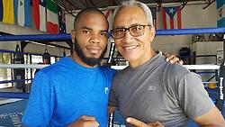 November 20, 2018 - Miami, FL, USA - Hairon Socarrás con su entrenador de toda la vida, Jorge Rubio. (Credit Image: © Jorge Ebro/Miami Herald/TNS via ZUMA Wire)