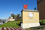 Signage at the DoubleTree Hotel at the Citadel Outlet Mall