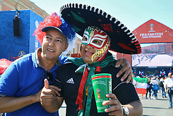 June 14, 2018 - Saint Petersburg, Russia - June 14, 2018. - Russia, Saint Petersburg. - Football fans from Mexico visit 2018 FIFA World Cup Fan Fest. (Credit Image: © Russian Look via ZUMA Wire)