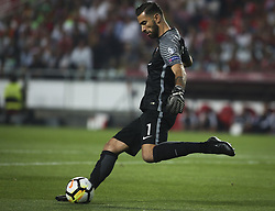 October 10, 2017 - Lisbon, Portugal - Portugal's goalkeeper Rui Patricio kicks the ball during the FIFA 2018 World Cup Qualifier match between Portugal and Switzerland at the Luz Stadium on October 10, 2017 in Lisbon, Portugal. (Credit Image: © Carlos Costa/NurPhoto via ZUMA Press)