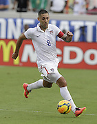 JACKSONVILLE, FL - JUNE 07:  Forward Clint Dempsey #8 of the United States dribbles with the ball during the international friendly match against Nigeria at EverBank Field on June 7, 2014 in Jacksonville, Florida.  (Photo by Mike Zarrilli/Getty Images)