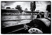 """Henley on Thames,  GREAT BRITAIN,  Rowing - Henley Henley Royal Regatta,  umpires launch,  Sport,, """"Film Noir Style Photography"""", © Peter SPURRIER,"""