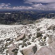The Continental Divide at about 13,000 feet, Bridger-Teton National Wilderness