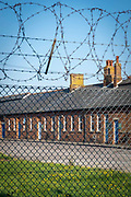 Napier Barracks in Folkestone Kent, recently taken over by the UK home office to be turned into an assessment and dispersal facility for asylum seekers on the 15th of September 2020 in Folkestone, United Kingdom.  Napier barracks was part of Shorncliffe military base, the MOD have sold off large parts of land in recent years for housing development.