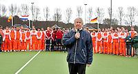 AERDENHOUT - 09-04-2012 - KNHB bestuurder Irving van Nes , maandag na de finale tussen Nederland Jongens A en Engeland Jongens A  (3-3) , tijdens het Volvo 4-Nations Tournament op de velden van Rood-Wit in Aerdenhout. Engeland wint met shoot-outs. FOTO KOEN SUYK