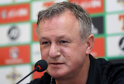 Northern Ireland manager Michael O'Neill during the press conference at Windsor Park, Belfast.