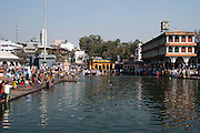 India, Maharashtra, Nashik ritual bathing in the holy the Godavari river