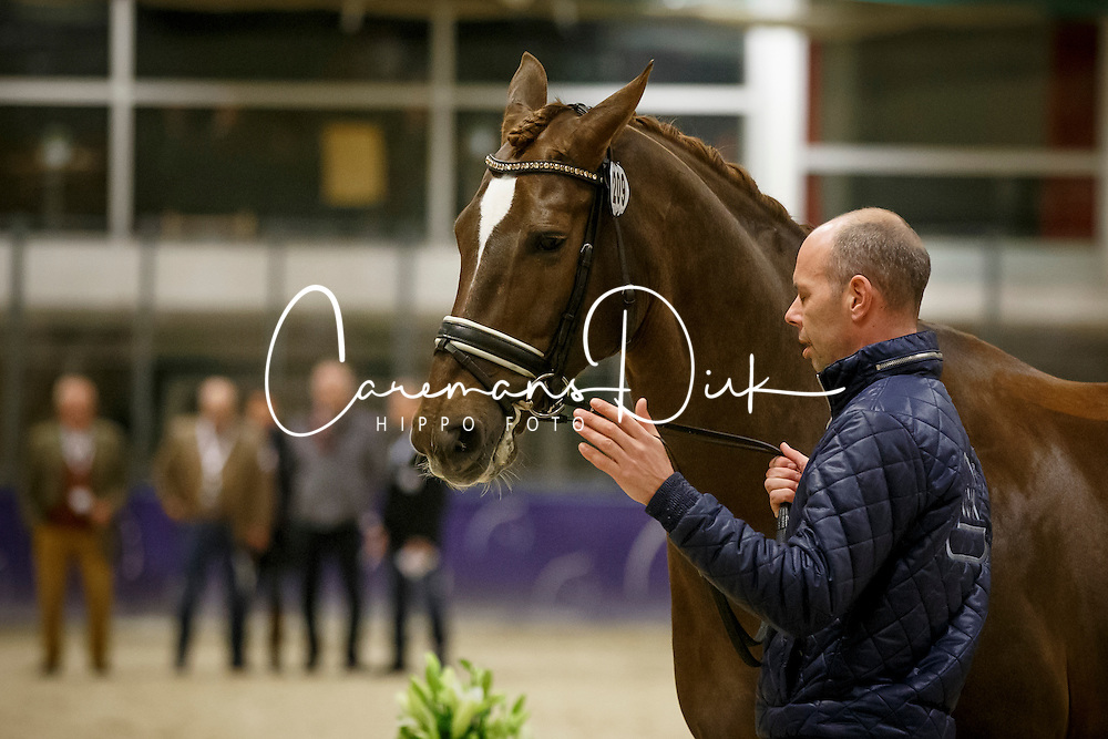 Minderhoud Hans Peter, (NED), Glock's Flirt<br /> Horse Inspection<br /> Reem Acra FEI World Cup Dressage Finals 2016<br /> © Hippo Foto - Dirk Caremans<br /> 24/03/16
