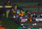 Wasps Head Coach Lee Blackett watches from the stands during a Gallagher Premiership Round 10 Rugby Union match, Friday, Feb. 20, 2021, in Leicester, United Kingdom. (Steve Flynn/Image of Sport)
