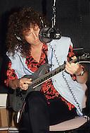 LOS ANGELES, CA - SEPTEMBER 15: Brian May of Queen in recording studio Circa 1991 in Los Angeles, California.