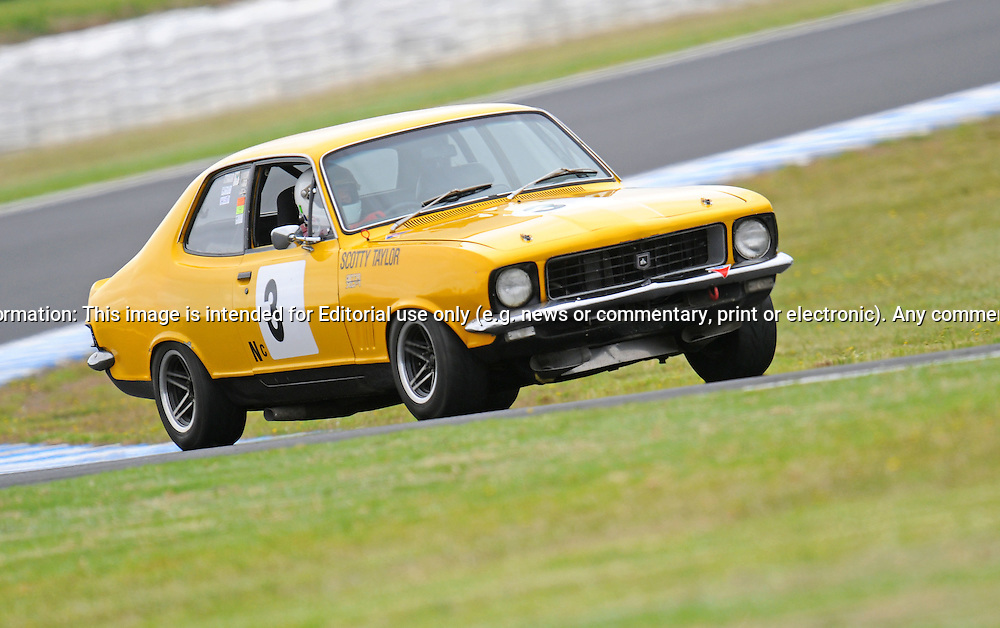 Scotty Taylor - Holden Torana XU1.Historic Motorsport Racing - Phillip Island Classic.18th March 2011.Phillip Island Racetrack, Phillip Island, Victoria.(C) Joel Strickland Photographics.Use information: This image is intended for Editorial use only (e.g. news or commentary, print or electronic). Any commercial or promotional use requires additional clearance.