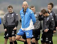 Fotball / Football<br /> Danmark / Denmark<br /> FC København / FC Copenhagen at La Manga - Spain<br /> 22.01.2007<br /> Foto: Morten Olsen, Digitalsport<br /> <br /> Ståle Solbakken<br /> Behind him Michael Silberbauer (8) - Marcus Allbäck (11) - Jesper Grønkjær (R)