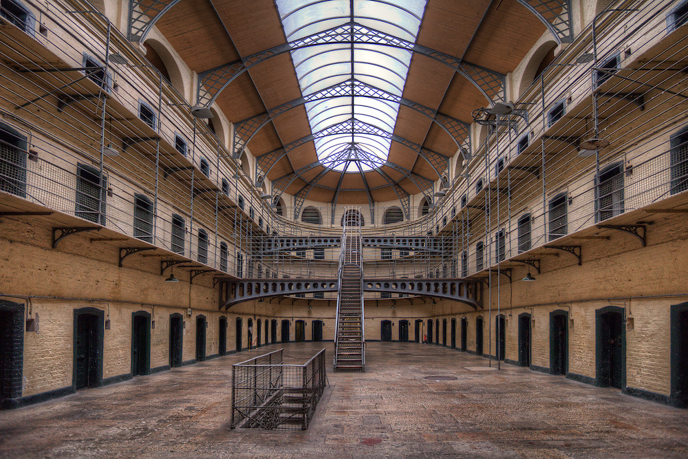Kilmainham Gaol is a former prison located in Kilmainham in Dublin, which is now a museum. It has been run since the mid-1980s by the Office of Public Works (OPW), an Irish government agency. Kilmainham Gaol played an important part in Irish history, as many leaders of Irish rebellions were imprisoned and some executed in the prison by the British and in 1923 by the Irish Free State.