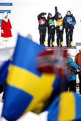 February 17, 2018 - Pyeongchang, Sydkorea - Anna Haag, Charlotte Kalla, Ebba Andersson and Stina Nilsson - Sweden..Women's Cross Country skiing 4x5km Relay, PyeongChang 2018 Olympic Games, 2018-02-17..(c) ORRE PONTUS  / Aftonbladet / IBL BildbyrÃ¥....* * * EXPRESSEN OUT * * *....AFTONBLADET / 85527 (Credit Image: © Orre Pontus/Aftonbladet/IBL via ZUMA Wire)
