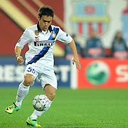 Inter Milan's Japan defender Yuto Nagatomo during their UEFA Champions League group stage matchday 5 soccer match Trabzonspor between Inter at the Avni Aker Stadium at Trabzon Turkey on Tuesday, 22 November 2011. Photo by TURKPIX