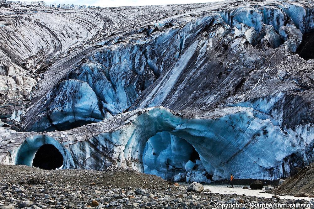 Ice cave in Kverkfjöll, north-east highlands
