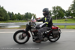 Jon Neuman riding his 1928 Harley-Davidson JDH on the Motorcycle Cannonball coast to coast vintage run. Stage-2 (251-miles) from Keene, NH to Binghampton, NY. Sunday September 9, 2018. Photography ©2018 Michael Lichter.