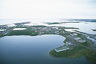 Aerial view of Tuktoyaktuk, NWT