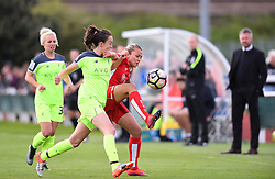 Claire Emslie of Bristol City Women competes for the ball with Caroline Weir of Liverpool Ladies - Mandatory by-line: Paul Knight/JMP - 20/05/2017 - FOOTBALL - Stoke Gifford Stadium - Bristol, England - Bristol City Women v Liverpool Ladies - FA Women's Super League Spring Series