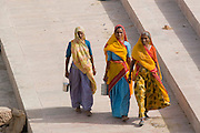 India, Rajasthan, Pushkar people in downtown