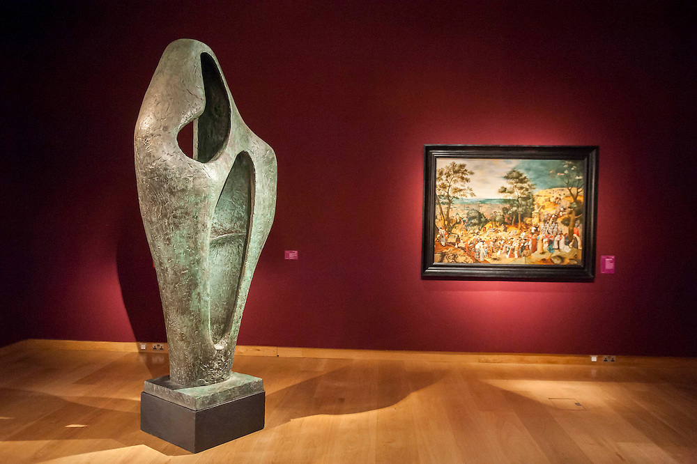Christies London unveils Open House 2014. A collection of over 100 'masterpieces' chosen by quality and not necessarily price. They will be offered for sale over the summer season of auctions and will be on display for free to the public until 17th June. Works include: An Egyptian painted limestone statue, 'Sekhemka', circa 2450-2300 (estimate: £4-6 million) and Figure for Landscape by Barbara Hepworth (pictured) are to star in a free, five-day curated exhibition. Christies, King St, London.