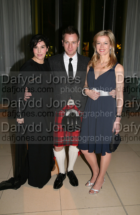 (L to R) Sharleen Spiteri, Ewan McGregor and Lady Helen Taylor attend Not Another Burns night. St. Martin's Lane Hotel.  Monday 3rd March 2008.<br /><br /> *** Local Caption *** -DO NOT ARCHIVE-© Copyright Photograph by Dafydd Jones. 248 Clapham Rd. London SW9 0PZ. Tel 0207 820 0771. www.dafjones.com.