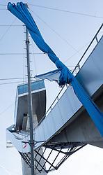 27.12.2015, Bergisel Schanze, Innsbruck, AUT, FIS Weltcup Ski Sprung, Vierschanzentournee, Vorberichte, im Bild ein Windnetz vor der Bergisel Schanze, dieses Jahr wurden zusätzliche Netze installiert // a wind net during preperation work for the Four Hills Tournament of FIS Ski Jumping World Cup at the Bergisel Schanze, Innsbruck, Austria on 2016/01/02. EXPA Pictures © 2016, PhotoCredit: EXPA/ Jakob Gruber