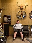 Reggie Thomas at Sander's Barber in Orofino, Idaho on Tuesday, Jan. 21, 2020.