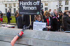 2-18-03-07 SWNS - Protests as Saudi Leader visits Britain