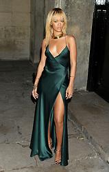 Rihanna arriving for the Stella McCartney Winter 2012 London Eveningwear Presentation, in Mayfair, central London.