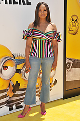 """Garcelle Beauvais arrives at the """"Despicable Me 3"""" Los Angeles Premiere held at the Shrine Auditorium in Los Angeles, CA on Saturday, June 24, 2017.  (Photo By Sthanlee B. Mirador) *** Please Use Credit from Credit Field ***"""