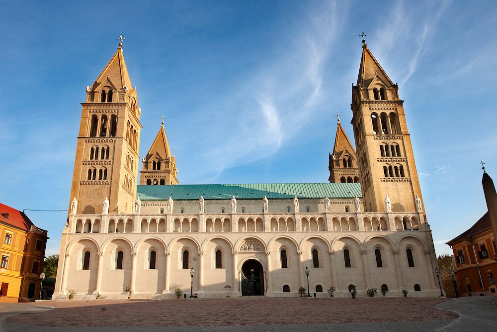 Pecs ( Pécs ) Cathedral - European Cultural City of The Year 2010 , Hungary .<br /> <br /> Visit our HUNGARY HISTORIC PLACES PHOTO COLLECTIONS for more photos to download or buy as wall art prints https://funkystock.photoshelter.com/gallery-collection/Pictures-Images-of-Hungary-Photos-of-Hungarian-Historic-Landmark-Sites/C0000Te8AnPgxjRg
