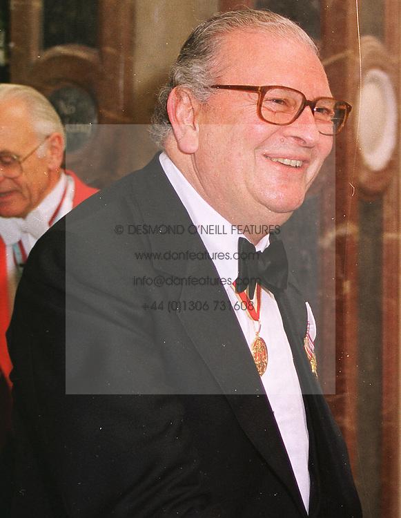 SIR JACK BAER at a dinner in London on 1st June 1999.MSR 11
