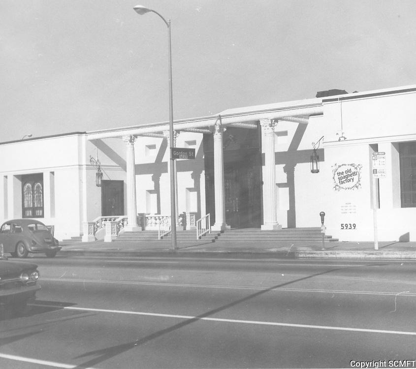 1977 The Old Spaghetti Factory at Sunset Blvd. & Gordon St.