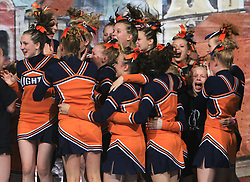 Northern Lights Pearls, Finland placed 2nd place in category Cheer all female - junior during final ceremony at second day of European Cheerleading Championship 2008, on July 6, 2008, in Arena Tivoli, Ljubljana, Slovenia. (Photo by Vid Ponikvar / Sportal Images).