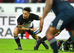 New Zeland 's Aaron Smih during a rugby union international match at Stade de France stadium in Saint Denis, outside Paris, France, Saturday, Nov. 11, 2017Photo by Christian<br /> Liewig/ABACAPRESS.COM