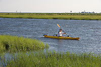 Kayaking on Back River near Great Island from Smiths Neck boat landing,  Old Lyme, CT. Near the mouth of the Connecticut River.