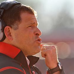 Oct 10, 2009; Piscataway, NJ, USA; Rutgers head coach Greg Schiano during first half NCAA college football action between Rutgers and Texas Southern at Rutgers Stadium.