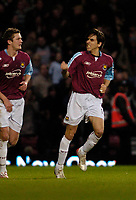 Photo: Leigh Quinnell.<br /> West Ham United v Fulham. The Barclays Premiership. 13/01/2007. West Hams Yossi Benayoun celebrates his second goal and West Hams third.