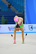 Castillo Galindo during qualifying at clubs in Pesaro World Cup 11 April 2015.<br /> Galindo born 16 September, 1990 in Jalisco is a Mexican individual rhythmic gymnast.