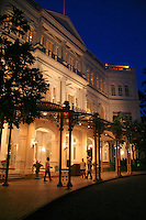 Raffles Hotel is a colonial style hotel in Singapore, dating from 1887 and named after Singapore's founder Sir Stamford Raffles. The hotel continued to expand over the years with the addition of wings, a verandah, a ballroom, a bar and billiards room, and further buildings and rooms.