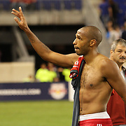 Thierry Henry, New York Red Bulls, after his Man of the Match performance during the New York Red Bulls V Toronto FC  Major League Soccer regular season match at Red Bull Arena, Harrison. New Jersey. USA. 29th September 2012. Photo Tim Clayton