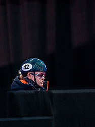 Xandra Velzeboer of Netherlands in action on 1500 meter during ISU World Short Track speed skating Championships on March 06, 2021 in Dordrecht