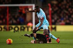 Matt Ritchie of Bournemouth sliding tackle on Michail Antonio of West Ham United - Mandatory by-line: Jason Brown/JMP - Mobile 07966 386802 12/01/2016 - SPORT - FOOTBALL - Bournemouth, Vitality Stadium - AFC Bournemouth v West Ham United - Barclays Premier League