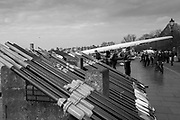 Hammersmith. London. United Kingdom,  Stacked Oars, 2018 Men's Head of the River Race. , Championship Course, Putney to Mortlake. River Thames, <br /> <br /> Sunday   11/03/2018<br /> <br /> [Mandatory Credit:Peter SPURRIER Intersport Images]<br /> <br /> LEICA CAMERA AG  LEICA Q (Typ 116)  1/500 sec. 28 mm f.8 200 ISO.  42.6MB