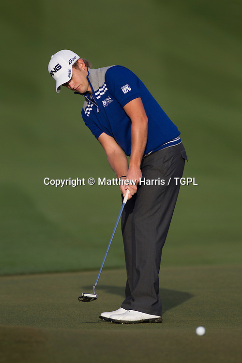 Tom LEWIS (ENG)during fourth round,Commercial Bank Qatar Masters 2013,Doha GC,Doha,Qatar,26th January 2013.