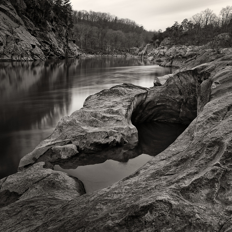 A pothole along the Potomac River, Maryland.