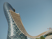 The leaning tower of Capital Gate are another example of daring and futuristic architecture.
