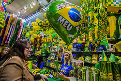 June 12, 2018 - SãO Paulo, São Paulo, Brazil - SAO PAULO SP, SP 12/06/2018 BRAZIL WORLD CUP: The apathy of the Brazilian is visible with the World Cup. With two days to go before the opening of the World Cup in Russia, the atmosphere of the World Cup still does not echo throughout the country and for the first time the lack of interest is evident. According to Pesquisa Datafolha, 53% of Brazilians have no interest in the Copa.Entre the reasons for the discouragement are: economic crisis, elections, corruption and the truckers strike. The number of disinterested people rose 11% in comparison with the last poll conducted in January. The study reveals that since 1994, when he first conducted the survey, that indifference was not so evident on the eve of a World Cup. About 61% of the women interviewed have no appreciation for the World Cup. Among the age groups, the largest share of disinterested people is between 35 and 44 years (57%). In the comparison between the regions, the residents of the South (59%) lead the research. While workers with family incomes of up to two minimum wages are not joining the tournament (54% (Credit Image: © Cris Faga via ZUMA Wire)